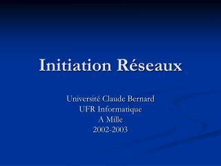 Initiation R seaux