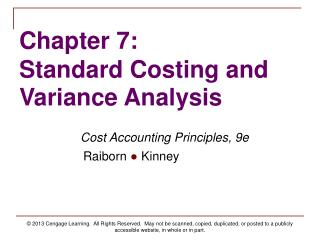 objectives of standard costing Absorption costing is a managerial accounting cost method of expensing all costs associated with manufacturing a particular product and is required for generally.