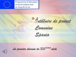�nt�lnire  de  proiect  Comenius S pania