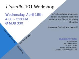 LinkedIn  101 Workshop
