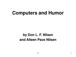 Computers and Humor