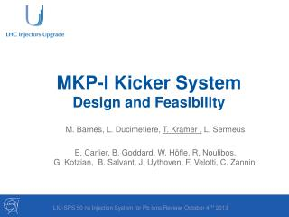 MKP-I Kicker System  Design  and  Feasibility
