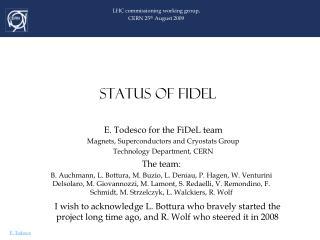STATUS OF FIDEL