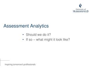 Assessment Analytics