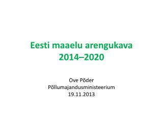 Eesti maaelu arengukava  2014–2020