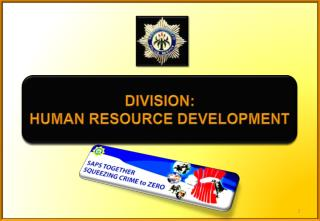 DIVISION: HUMAN RESOURCE DEVELOPMENT