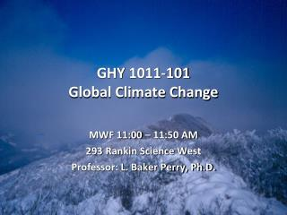 GHY  1011-101 Global Climate Change