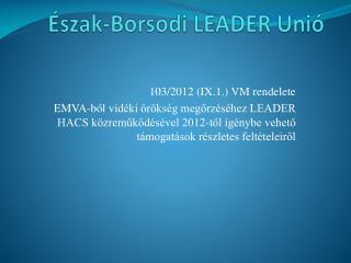 Észak-Borsodi LEADER Unió