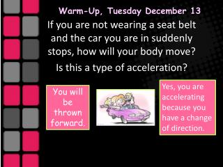 Warm-Up, Tuesday December 13