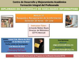 Centro de Desarrollo y Mejoramiento Académico Formación Integral del Profesorado