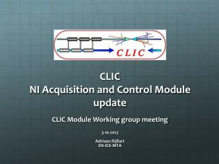 CLIC NI Acquisition and Control Module update