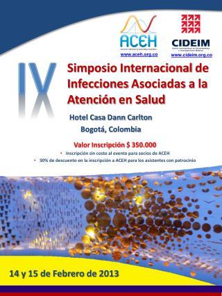 Simposio Internacional  de  Infecciones Asociadas  a la  Atención  en Salud