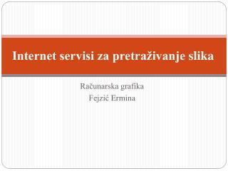 Internet servisi za pretraživanje  slika