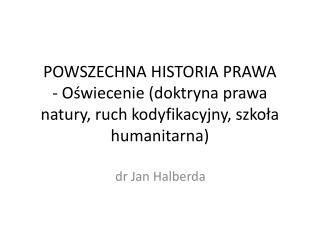 dr Jan Halberda