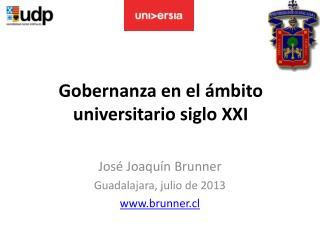 Gobernanza en el ámbito universitario siglo XXI