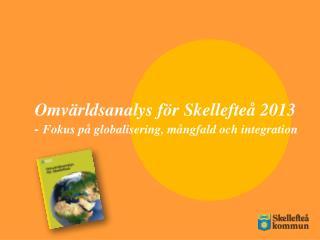Omv�rldsanalys f�r Skellefte� 2013 -  Fokus p� globalisering, m�ngfald och integration