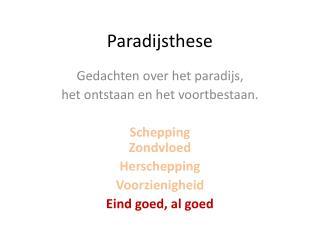 Paradijsthese