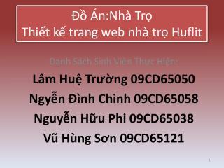 Đồ Án:Nhà  Trọ Thiết kế trang web nhà trọ Huflit