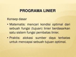PROGRAMA LINIER