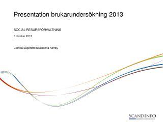 Presentation brukarundersökning 2013
