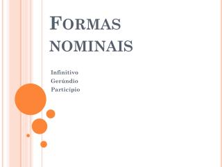 Formas nominais