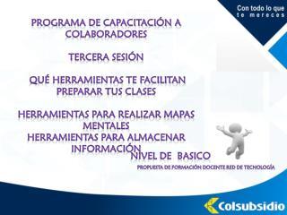 Programa de capacitación a colaboradores TERCERA sesión