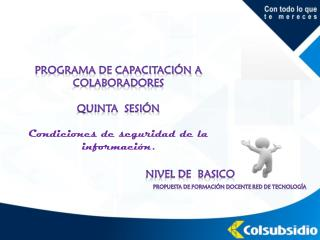 Programa de capacitación a colaboradores quinta   sesión