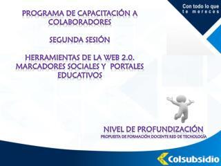 Programa de capacitación a colaboradores Segunda sesión