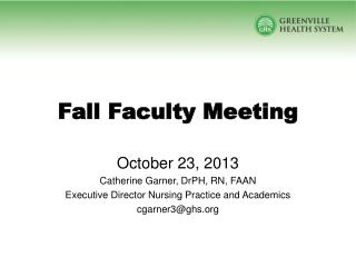 Fall Faculty Meeting