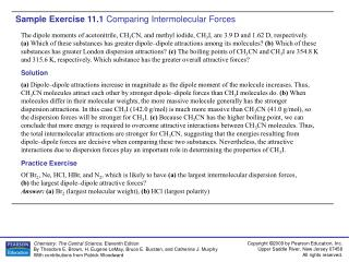 Sample Exercise 11.1  Comparing Intermolecular Forces