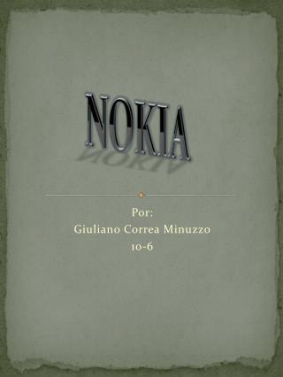Por: Giuliano Correa Minuzzo 10-6