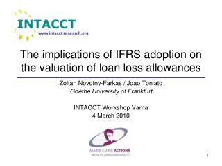 The implications of IFRS adoption on the valuation of loan loss allowances