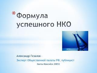Формула успешного НКО