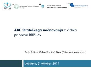 ABC Strateškega načrtovanja  z vidika priprave RRP-jev