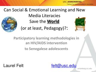Participatory learning methodologies in an HIV/AIDS intervention  to Senegalese adolescents