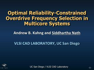 Optimal Reliability-Constrained Overdrive Frequency Selection in Multicore Systems