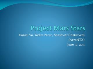 Project Mars Stars