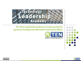 The Tech Leadership Academy is made possible by generous funding from Microsoft Community Affairs