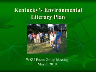 Kentucky's Environmental Literacy Plan