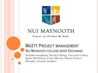 Mn211 Project management  Nui  Maynooth  college book Exchange