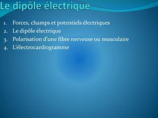 Le dipôle électrique