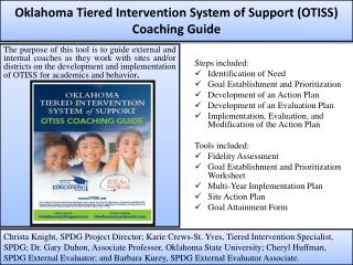 Oklahoma Tiered Intervention System of Support (OTISS) Coaching Guide