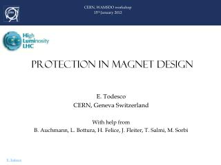 PROTECTION IN MAGNET DESIGN