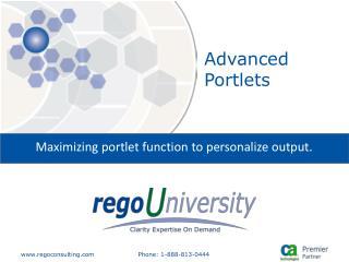 Advanced Portlets