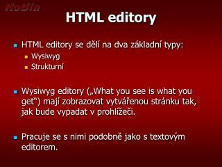 HTML editory