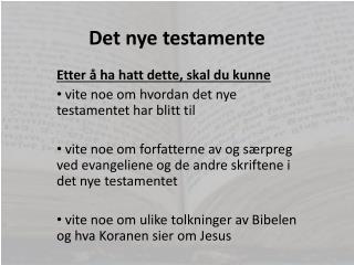 Det nye testamente