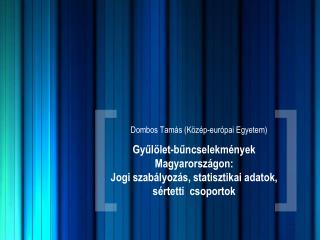Dombos Tamás (Közép-európai Egyetem)