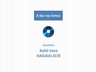 A blu-ray lemez