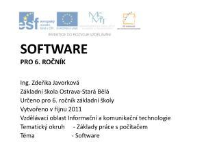 Software pro 6. ročník
