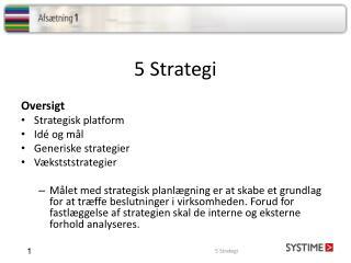 5 Strategi